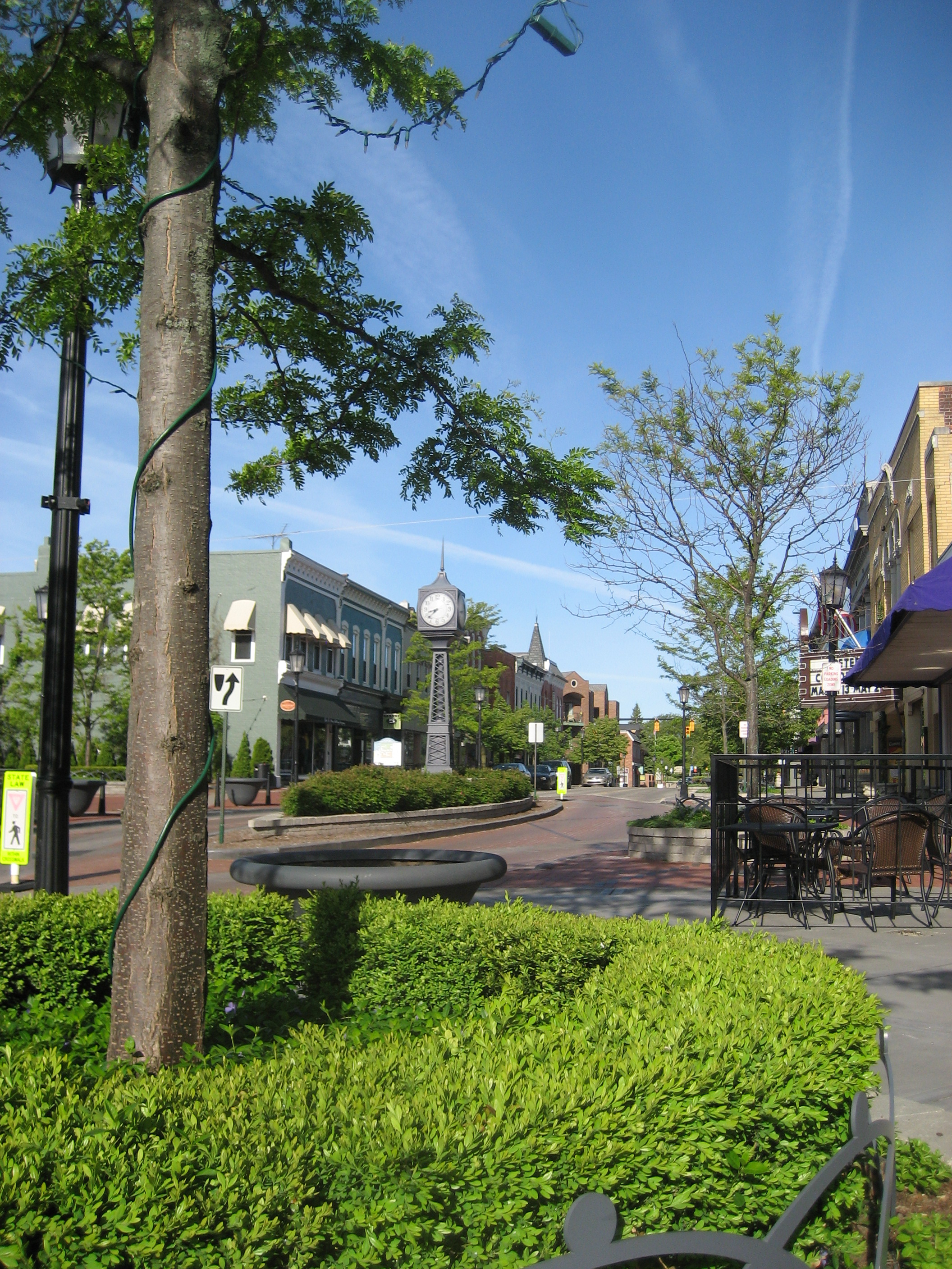 Streetscape To The North Of Hickory Click To Close: Downtown Northville Streetscape : AEW