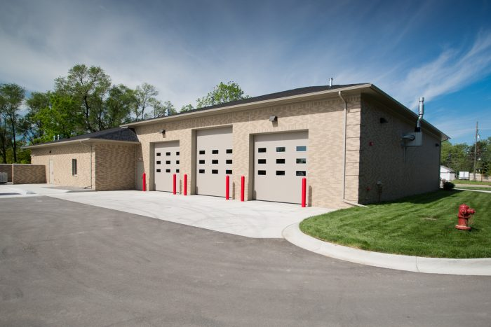 Shelby Township Fire Station 5 Rear Elevation