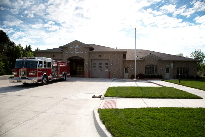 Shelby Township Fire Station 5 Front Elevation