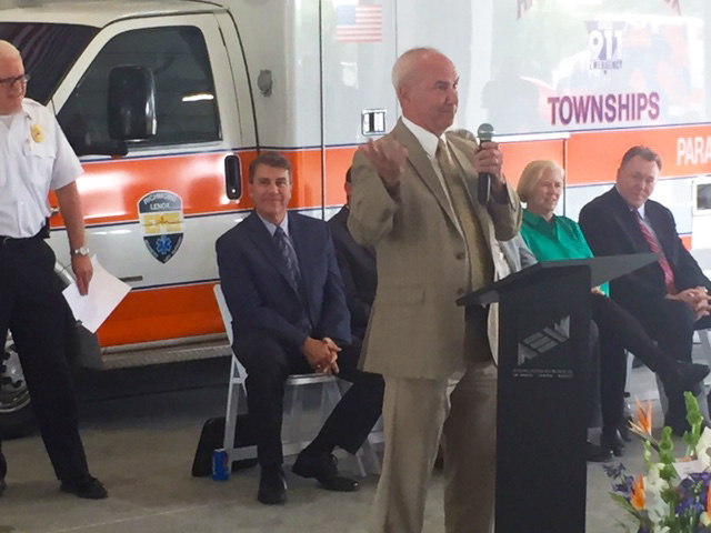 Richmond Lenox EMS; Ribbon Cutting; Roy Rose;