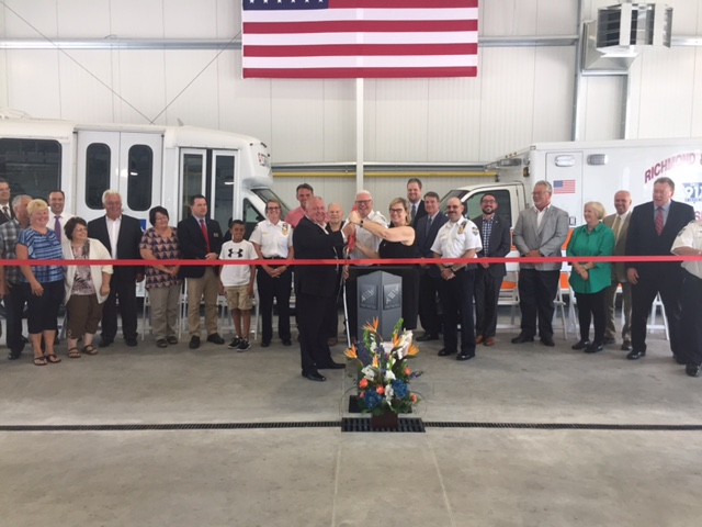 Richmond Lenox EMS; Smart headquarters; ribbon cutting
