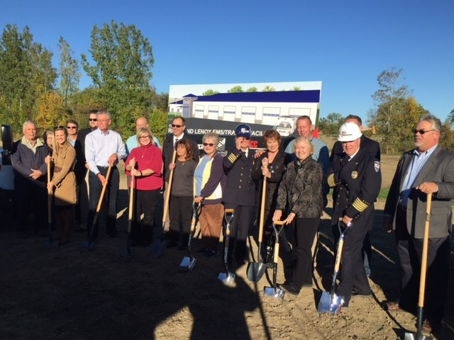 Richmond Lenox EMS; Groundbreaking; Candice Miller; Smart; DCC Building; AEW