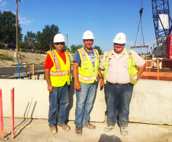 Macomb County Dept. of Roads District Inspector Joe Danna, and AEW's Inspectors Pat Ollinger and Dillon Campbell have been working diligently over the many months of the project to help ensure the integrity and quality of the work performed.