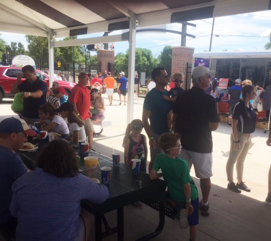 Jimmy John's is a perfect venue for families, and many employees brought theirs to enjoy the day's family-friendly activities.
