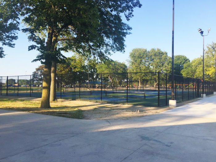 New pickleball courts, a favorite with all ages, were also added to the play area.