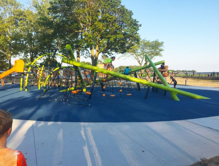 The new playscape features bright and fun equipment for all ages to enjoy.