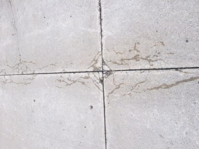 This pavement section shows the early signs of the negative results caused by Alkali-Silica Reaction (ASR).