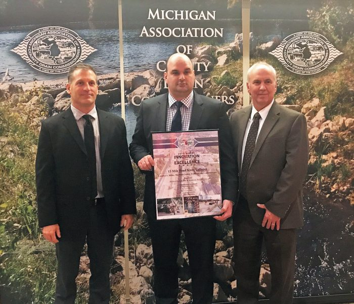 AEW and MCPWO accept the 2018 MACDC Innovation and Excellence Award