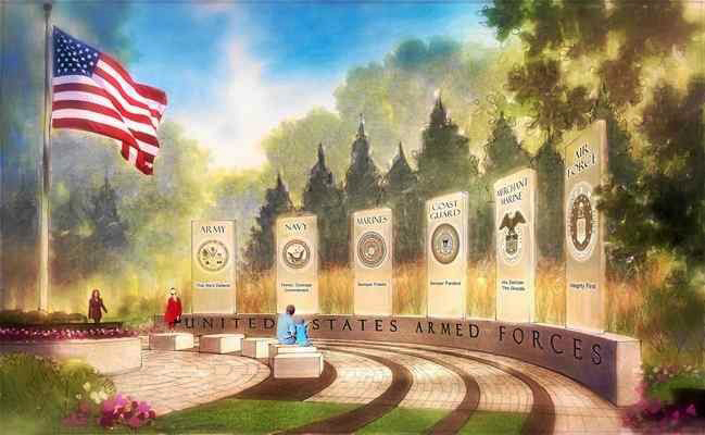 Artist's rendering of the Veterans Tribute that will be built on Adams Road, just south of Silverbell Road in Oakland Township.